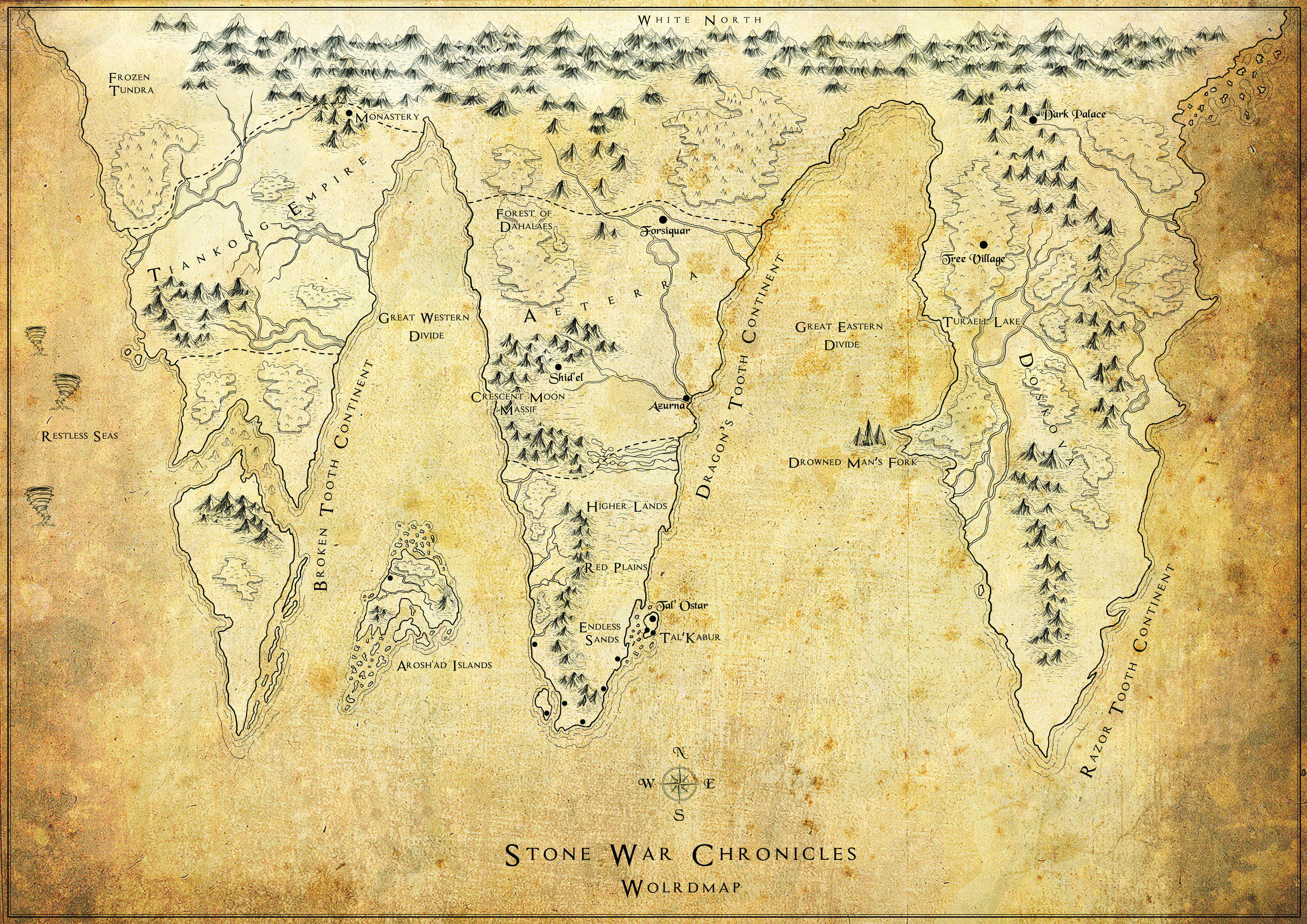 Stone War Chronicles Worldmap